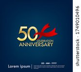 50th years anniversary... | Shutterstock .eps vector #1749010496