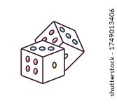 dice games rgb color icon.... | Shutterstock .eps vector #1749013406