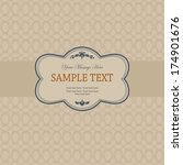 invitation cards in an vintage... | Shutterstock .eps vector #174901676