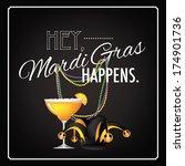 hey mardi gras happens... | Shutterstock .eps vector #174901736