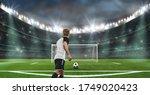 Soccer Stadium   A Player Ready ...