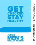 national men's health month in... | Shutterstock .eps vector #1749025370