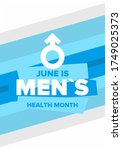 national men's health month in... | Shutterstock .eps vector #1749025373