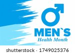 national men's health month in... | Shutterstock .eps vector #1749025376