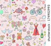 valentine's day seamless... | Shutterstock .eps vector #174902993