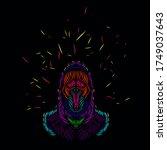 the death angel grim reaper... | Shutterstock .eps vector #1749037643