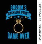 groom's bachelor party game...   Shutterstock .eps vector #1749038186