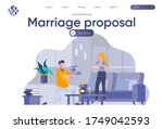 marriage proposal landing page... | Shutterstock .eps vector #1749042593