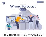 wrong forecast landing page... | Shutterstock .eps vector #1749042596