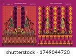 modern salwar kameez artwork... | Shutterstock .eps vector #1749044720