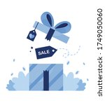 vector illustration of gift box ... | Shutterstock .eps vector #1749050060