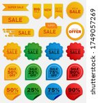 vector price tags collection.... | Shutterstock .eps vector #1749057269