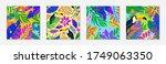 bundle of summer vector... | Shutterstock .eps vector #1749063350