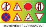 traffic signs   road signs... | Shutterstock . vector #1749064790