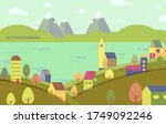 europe village. vector colorful ... | Shutterstock .eps vector #1749092246