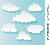 vector illustration of clouds... | Shutterstock .eps vector #174909410