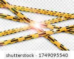 barrier warning tape on... | Shutterstock .eps vector #1749095540