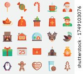 funny christmas and new year... | Shutterstock .eps vector #1749103076