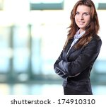 successful business woman... | Shutterstock . vector #174910310
