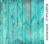 weathered blue wooden... | Shutterstock . vector #1749118916