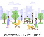 male and female characters in... | Shutterstock .eps vector #1749131846