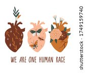 we are one human race. equal... | Shutterstock .eps vector #1749159740