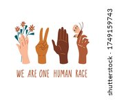 we are one human race. equal... | Shutterstock .eps vector #1749159743