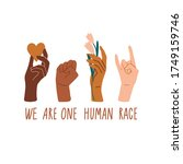 we are one human race. equal... | Shutterstock .eps vector #1749159746