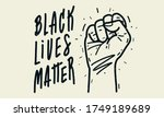 black lives matter. text... | Shutterstock .eps vector #1749189689