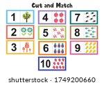 numbers flash cards for kids.... | Shutterstock .eps vector #1749200660
