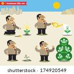 business life. boss watering...   Shutterstock . vector #174920549