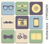flat hipster iconset for web or ...