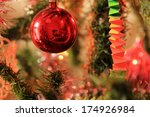 christmas tree with the... | Shutterstock . vector #174926984