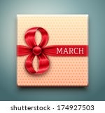 gift for 8 march  women's day ... | Shutterstock .eps vector #174927503
