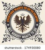 retro emblem  heraldic elements | Shutterstock .eps vector #174930080