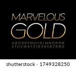 vector marvelous golden font.... | Shutterstock .eps vector #1749328250