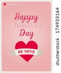 typography valentine's day card ... | Shutterstock .eps vector #174933164