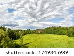Panoramic Landscape With Red...