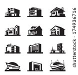 various types of construction   ... | Shutterstock .eps vector #174936716