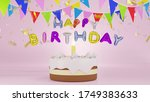 Happy Birthday Color Text...