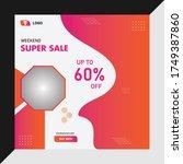 social media post banner... | Shutterstock .eps vector #1749387860