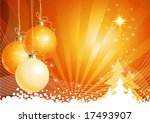 Christmas background with decorations / vector / The layers are separated - stock vector