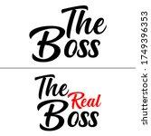 the boss the real boss...   Shutterstock .eps vector #1749396353