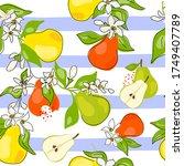 fresh green  yellow  orange... | Shutterstock .eps vector #1749407789