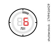 the 6 minute icon isolated on...