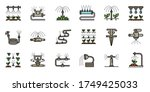 Irrigation System Icons Set....