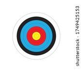 simple arrow target flat icon... | Shutterstock .eps vector #1749425153