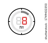 the 8 minute icon isolated on...