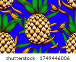 Pineapple Seamless Pattern ...