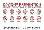 prevention line icons set...   Shutterstock .eps vector #1749452996